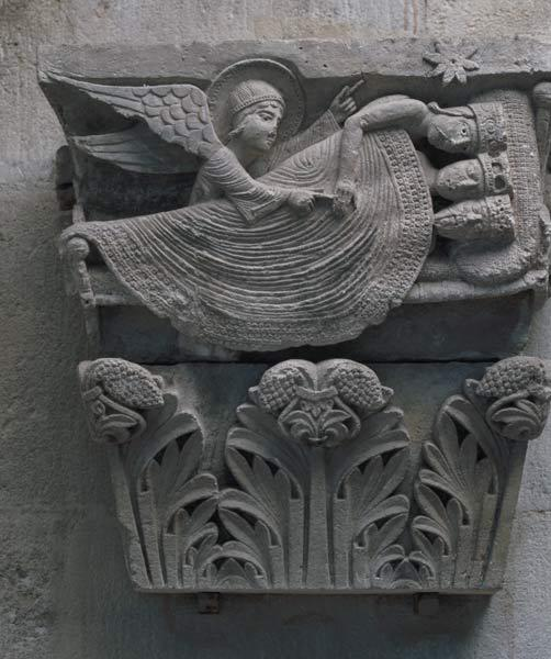 The Dream of the Three Kings, original capital from the cathedral nave