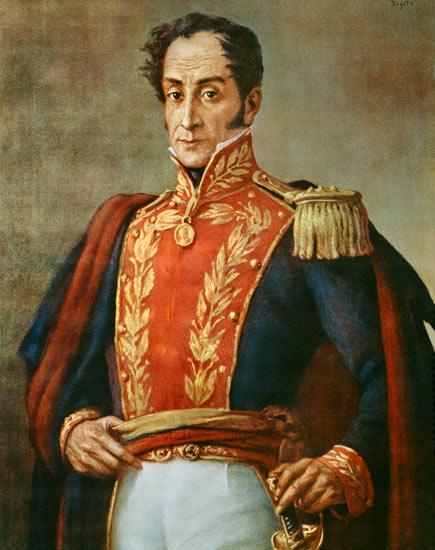 Reproducción impresa de  Simon Bolivar (1783-1830) (chromolitho)