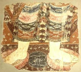 Fragment showing the Bodhisattva robe and feet (wall painting)Balawaste