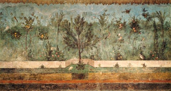Garden Paintings from the so-called 'Villa of Livia', Primaporta,Rome