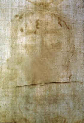 Turin shroud, head