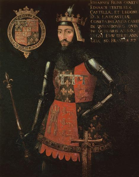 John of Gaunt, Duke of Lancaster (1340-99) 4th Son of Edward III