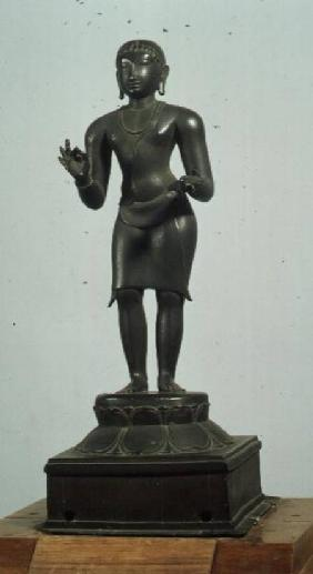 Kali (one of the aspects of Parvati), bronze, late Chola