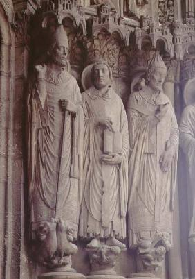 (LtoR) SS. Martin of Tours, Jerome and Gregory the Great, figures on the exterior east embrasures,ea
