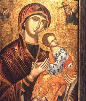 Anonymous  - Mother of God of the PassionGreek Icon from Crete