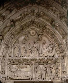 The Nativitytympanum from the west or Royal Portal