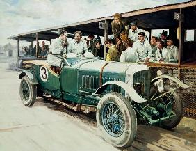 Portrait of Jack Dunfee and Woolf Barnato at Brooklands in 1929