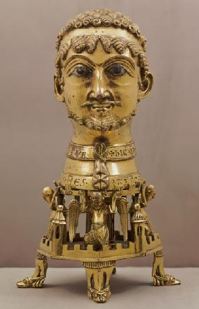 Reliquary bust of Frederick I (c.1123-1190), German,made in Aachen