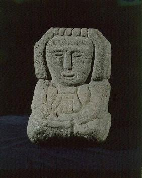 Sculpture of a goddessfrom near Tenochtitlan (Mexico City) Aztec