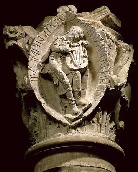 'The Sounds of Music'column capital from the ambulatory at Cluny