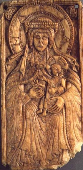 Anonymous  - Virgin and Child, relief plaque,from Northern France