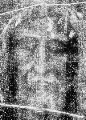 Turin shroud, head in negative