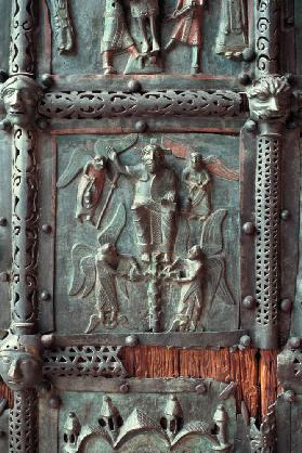 Panel from the left hand door of the portal