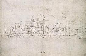 The Tower of London, from 'The Panorama of London'