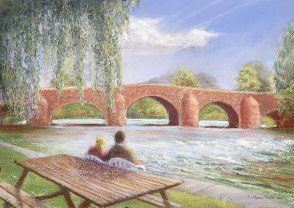 Bridge over troubled water, 2002 (pastel on paper)