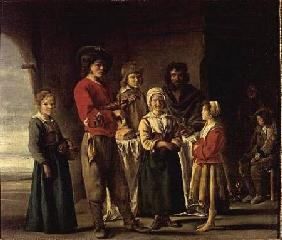 Peasants in a Cave