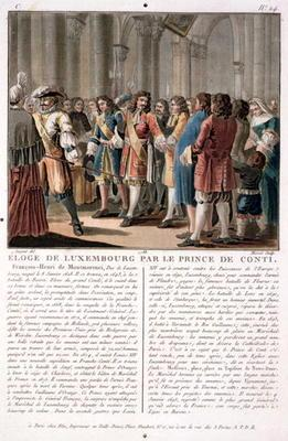 The Prince de Conti (1664-1709) praises the Duke of Luxembourg (1628-95) after his victory at the Ba