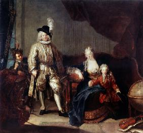 Portrait of Baron von Erlach with his Family