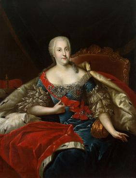 Portrait of Johanna-Elizabeth, Electress of Anhalt-Zerbst (1712-1760), Mother of Catherine II