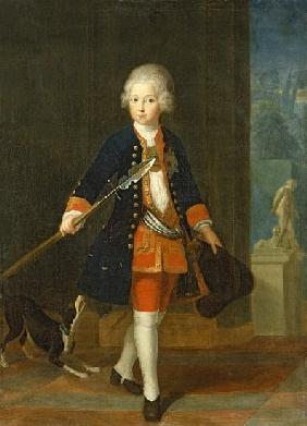 The Crown Prince Frederick II in his Corps de Cadets (uniform of the Kings Regiment),