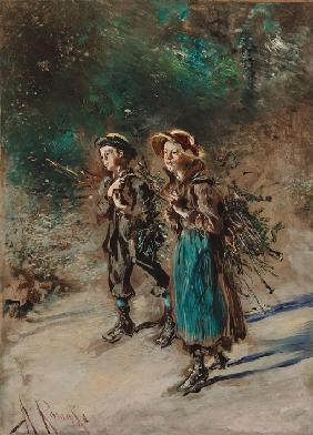 Children with Brushwood