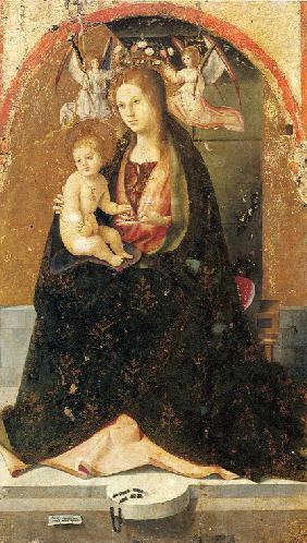 Madonna and Child (Detail of the Saint Gregory Polyptych)