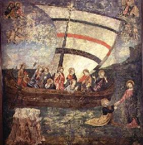 Christ walking on the water, after the 'Navicella' by Giotto