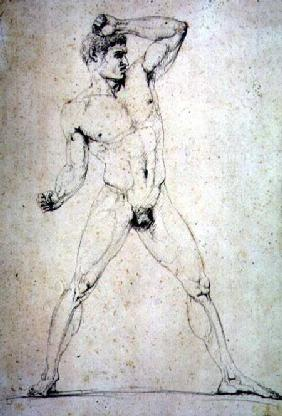 "Male Nude, Creugas of Durazzo, from Pausanias's description of the Nemean Games in his ""Itinary"" of"