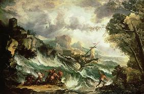 Seascape with Shipwreck, c.1700-07 (also see 123093)