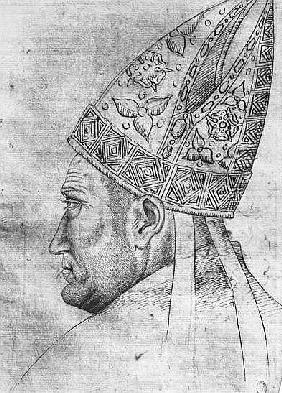 Head of a bishop, from the The Vallardi Album