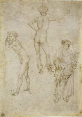 Two male figure studies and Saint Peter