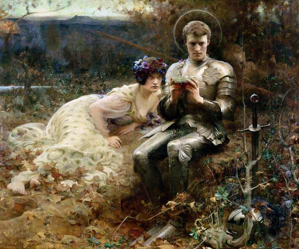 The Temptation of Sir Percival, 1894 (oil on canvas)