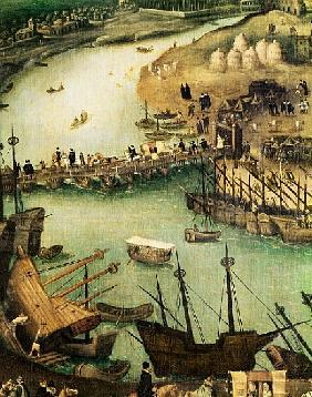 The Port of Seville, c.1590 (detail)