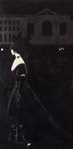 Beardsley, Aubrey Vincent : Lady in long dress (: The ...