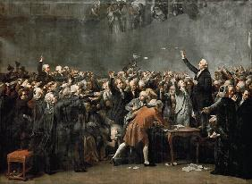 The Tennis Court Oath on 20 June 1789