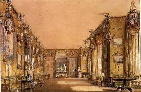 Interior of the Yellow Drawing Room at Brighton Pavilion