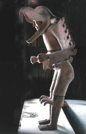 Eagle Man, found in the House of Eagles, north of the Templo Mayor