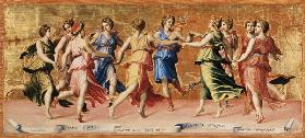 The Dance of Apollo with the Muses