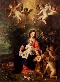 Madonna with child and surrounded, the Johanneskna