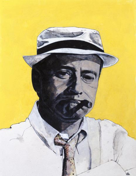 Portrait of Jack Lemmon, illustration for The Daily Mirror Colour Supplement