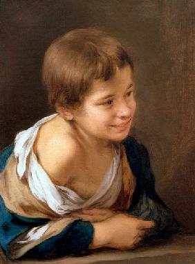 A Peasant Boy Leaning on a Sill