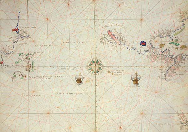 The Pacific Ocean, from an Atlas of the World in 33 Maps, Venice, 1st September 1553(see also 330962