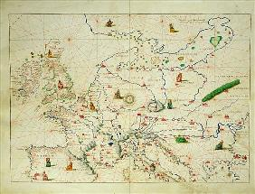 The Continent of Europe, from an Atlas of the World in 33 Maps, Venice, 1st September 1553(see also
