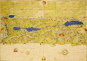 The Holy Land, from an Atlas of the World in 33 Maps, Venice, 1st September 1553(see also 330965)