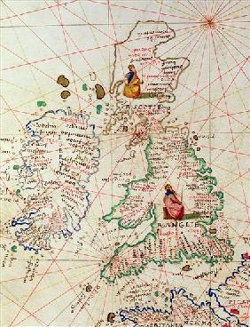 The Kingdoms of England and Scotland, from an Atlas of the World in 33 Maps, Venice, 1st September 1