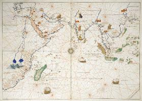 The Indian Ocean, from an Atlas of the World in 33 Maps, Venice, 1st September 1553(see also 330956)
