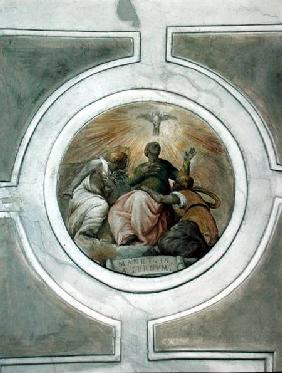 Representation of one of the Virtues, detail from the ceiling of the Grimani Chapel