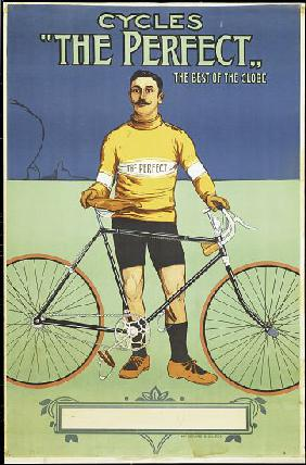 Poster advertising 'The Perfect' bicycle