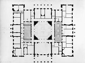 Wyatt, Benjamin Dean : Plan of the Mezzanine floo...