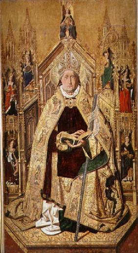 St. Dominic enthroned as Abbot of Silos